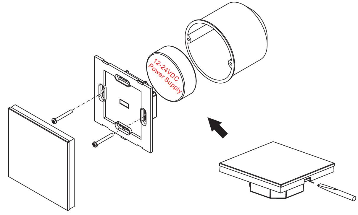 RGB-W LED Steuerung mit Glas Touch-Oberfläche DMX SR-2812B
