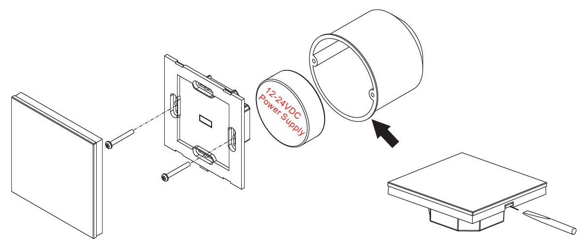 RGB und Dualweiß LED Steuerung mit Glas Touch-Oberfläche