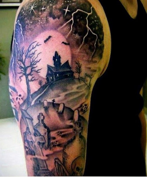 Gates Heaven Scene Tattoo Designs