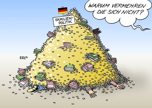Familienpolitik von Erl  Politik Cartoon  TOONPOOL