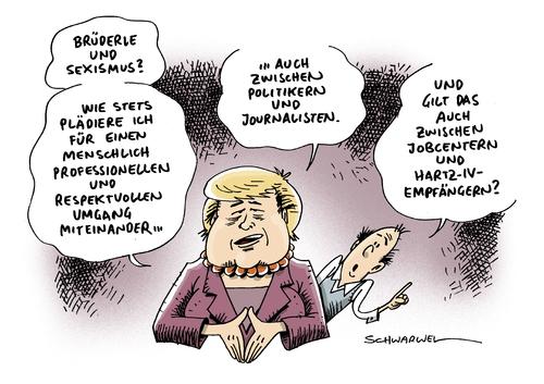 Sexismus Merkel Brüderle Von Schwarwel  Politik Cartoon