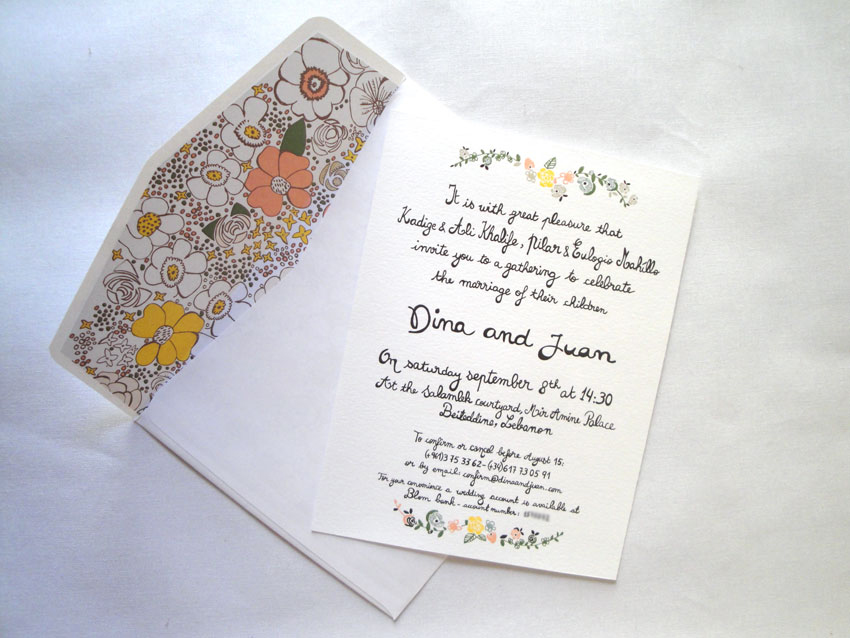 Wedding cards... revealed! (2/2)