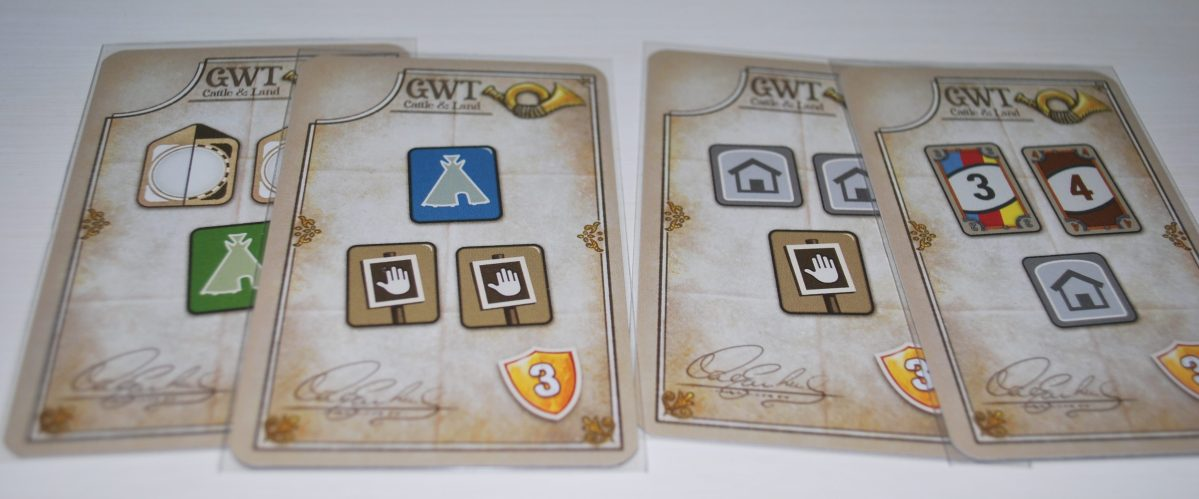 Cartas objetivo Iniciales Great western Trail
