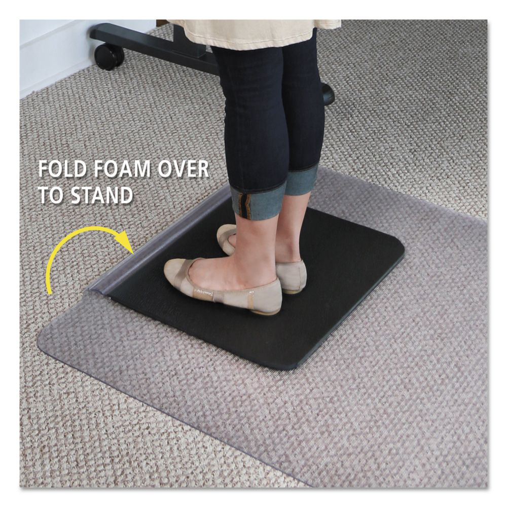 Es Robbins Chair Mat Es Robbins Sit Or Stand Mat For Carpet Or Hard Floors 36 X 53 With Lip Clear Black