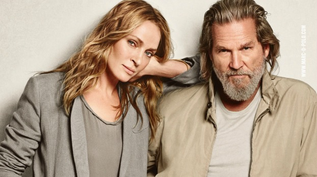 Inspiration van de Bijenkorf. Jeff Bridges in advertentie voor Marc O'Polo