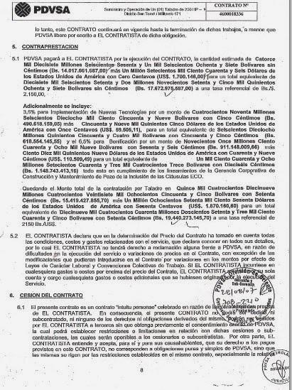 Contrato de PDVSA con MILITAREK.
