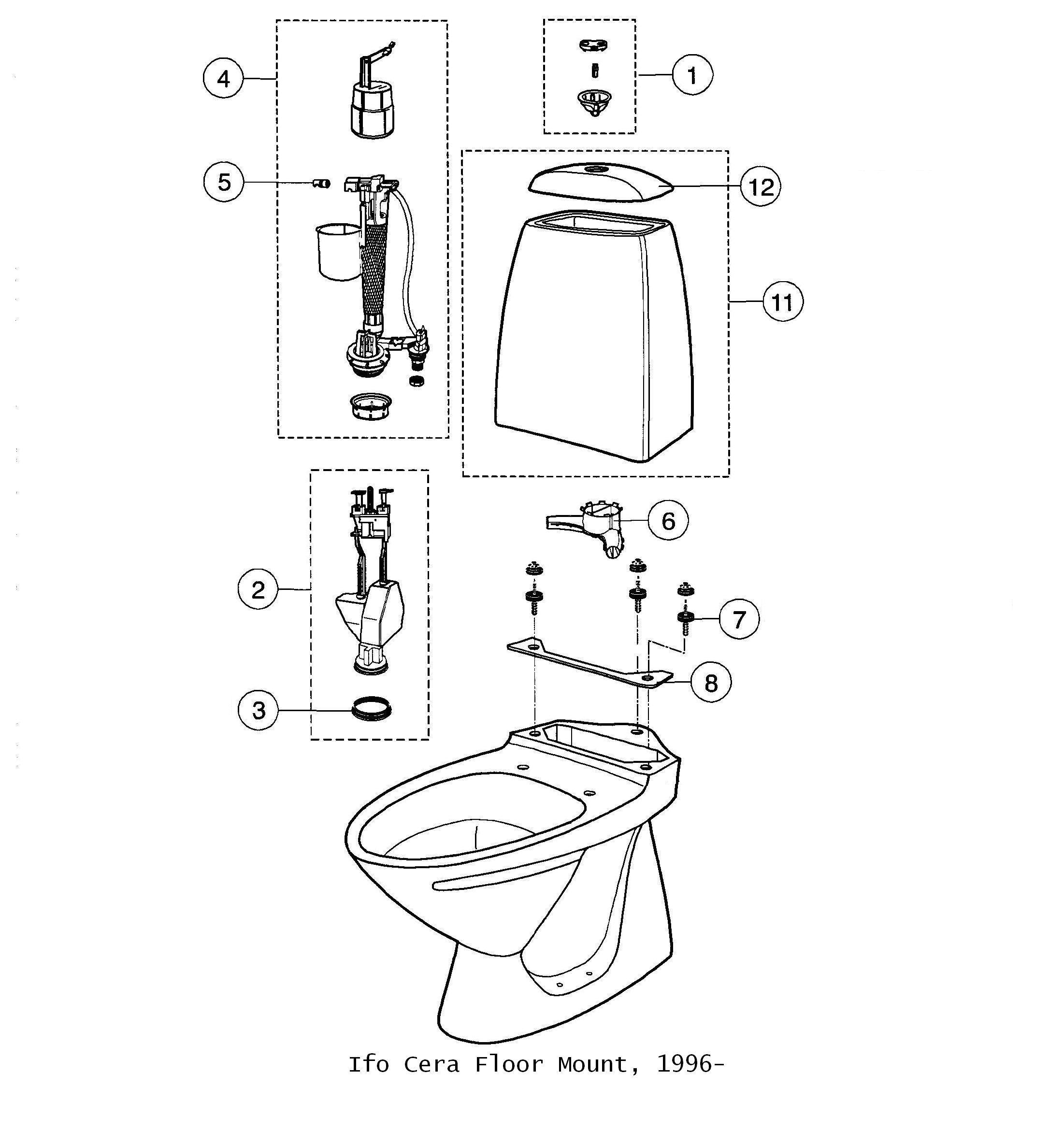 Ifo Toilet Parts Diagrams Dea Bathroom Machineries