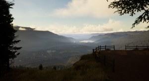 Vue panoramique près du Mountain Gate Resort. Cette capture d'écran provient d'un travail en cours et tout le contenu est encore sujet à changement.