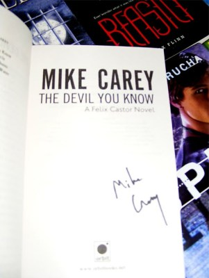 mike carey devil you know signed
