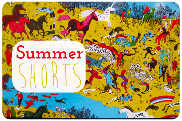 Summer Shorts - zombies vs unicorns edition