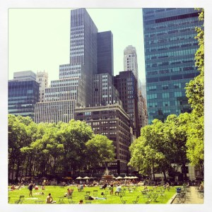 Bryant Park on one of the many horrifically hot days BEA fell on.