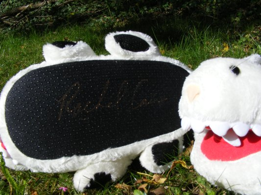 Morganville Bunny Slippers - Signed by Rachel Caine