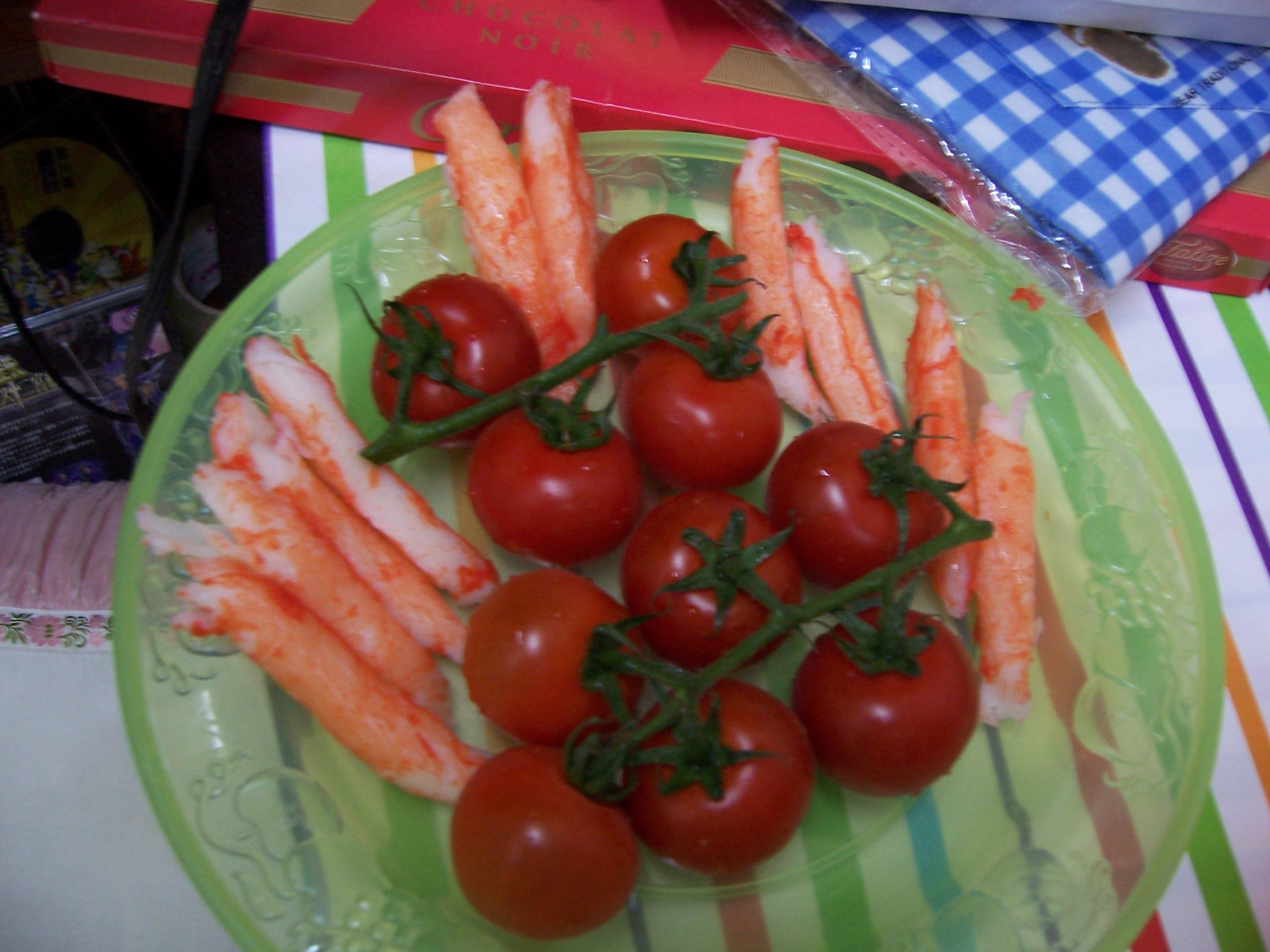 Tomato and crab