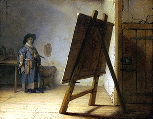 Rembrandt_The_Artist_in_his_studio