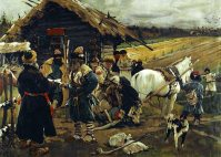 A Peasant Leaving His Landlord On Yuri's Day, by Sergei V. Ivanov