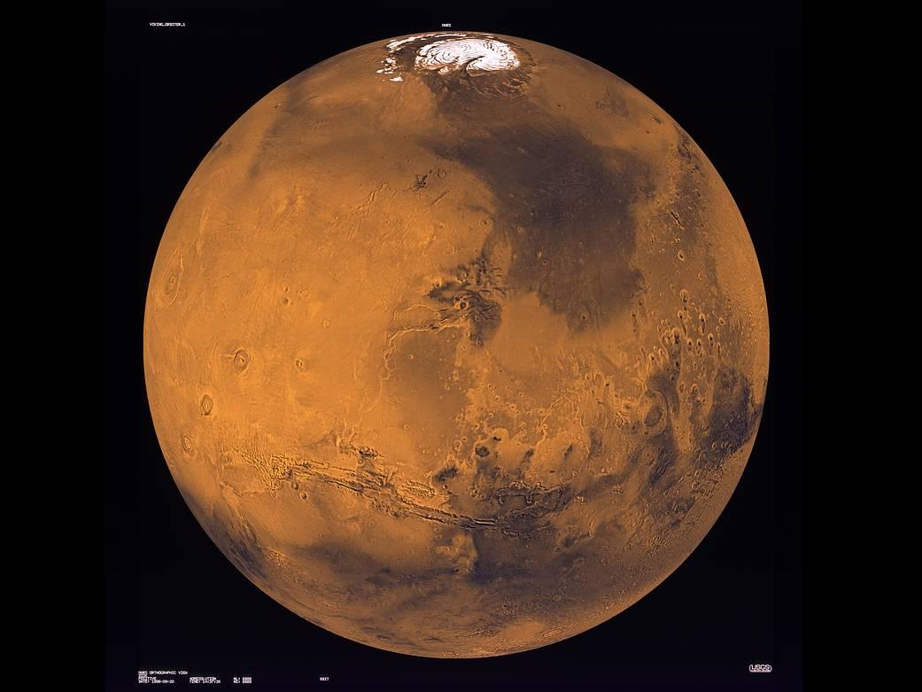 Viking 1 Composite Image of Mars, mission June 1976