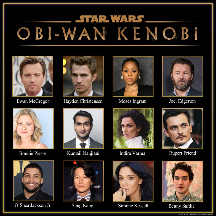 star wars obi-wan kenobi elenco actores serie