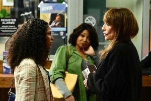 Lex Scott Davis, Tamala Jones, and Katey Sagal in 'Rebel'