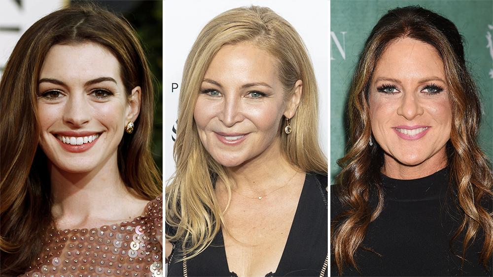 (L-R) Anne Hathaway, Jennifer Westfeldt, and Cathy Shulman