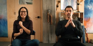 Charlotte Nicdao and Rob McElhenney in 'Mythic Quest'
