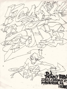 DJ Deadly Buda Speedcore Graffiti