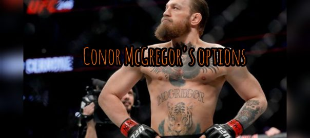 Dana White came out, encouraging CConor to wait for a title fight