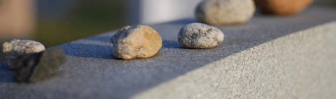 stones on jewish grave