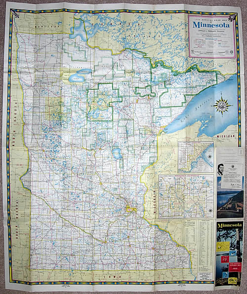 1956 Official Road Map of Minnesota