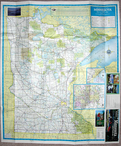 1963 Official Road Map Minnesota