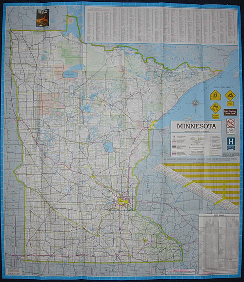 1973 Official Highway Map Minnesota