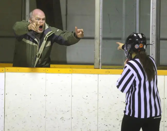 Image result for angry hockey dad