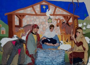 """Scene from """"The Story of Jesus's Birth."""" Photograph taken by Lynn Rife. 16 Dec. 2012"""