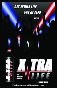 Xtra Life Energy Drink Deadworx Zombie Apocalypse