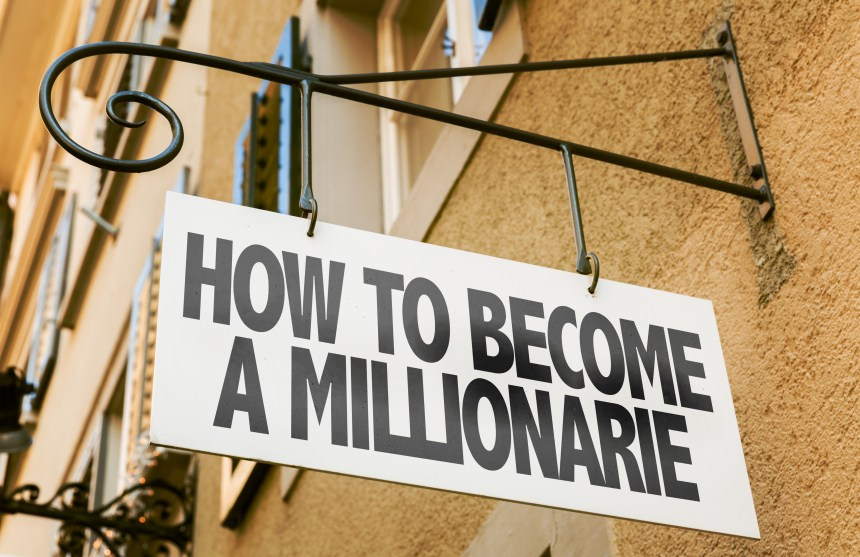 How To Become a Millionaire sign in a conceptual image