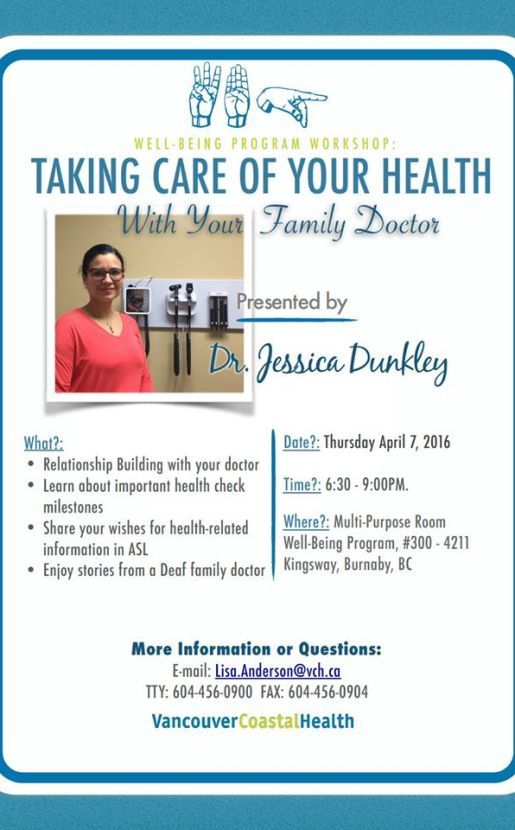 TAKING CARE OF YOUR HEALTH WITH YOUR FAMILY DOCTOR WBP IMAGE FLYER