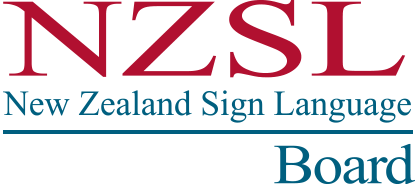 Logo New Zealand Sign Language Board