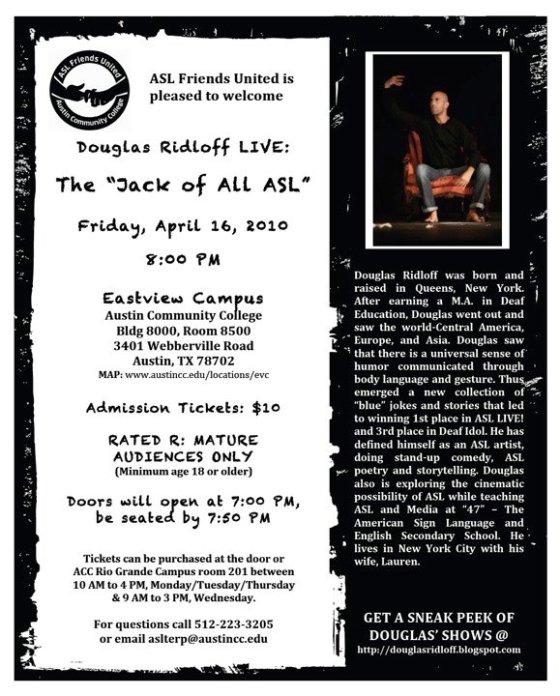 "Douglas Ridloff LIVE: The ""Jack of All ASL"""