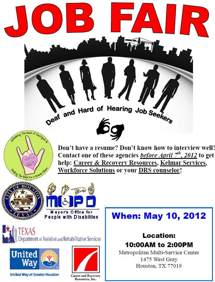 Houston Deaf & Hard Of Hearing Job Fair 2012 – Deaf