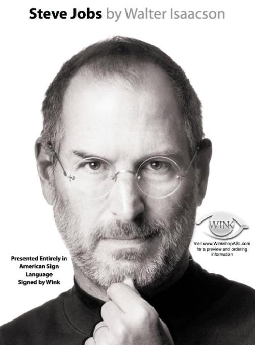 Steve Jobs ASL By Wink flyer