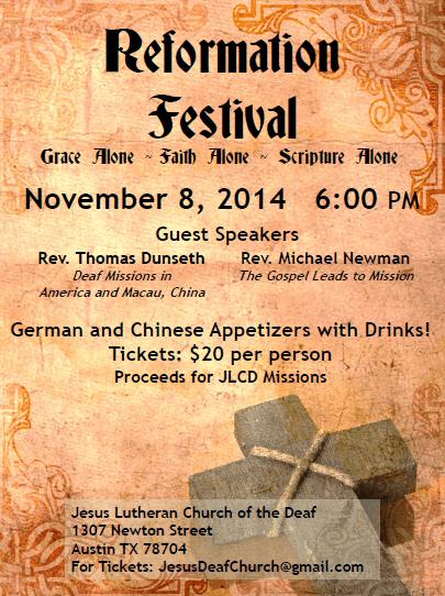Reformation Festival flyer