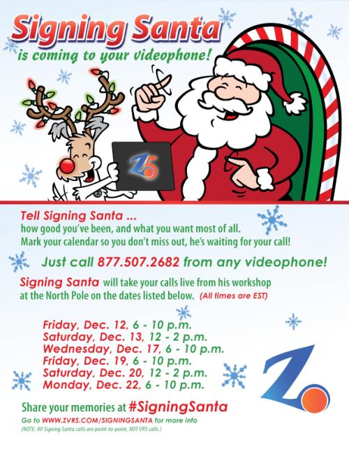 signing santa 2014