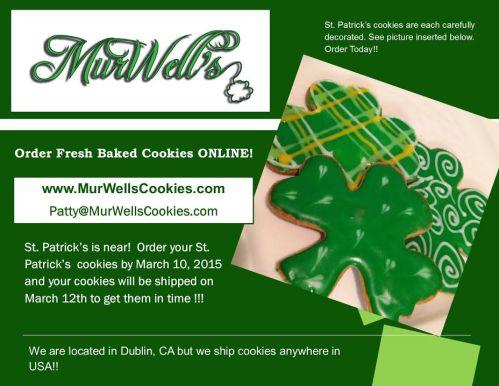 Murwells cookies st patricks flyer 2015