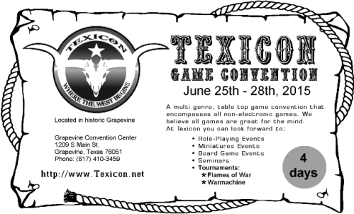 Texicon 2015 Flyer