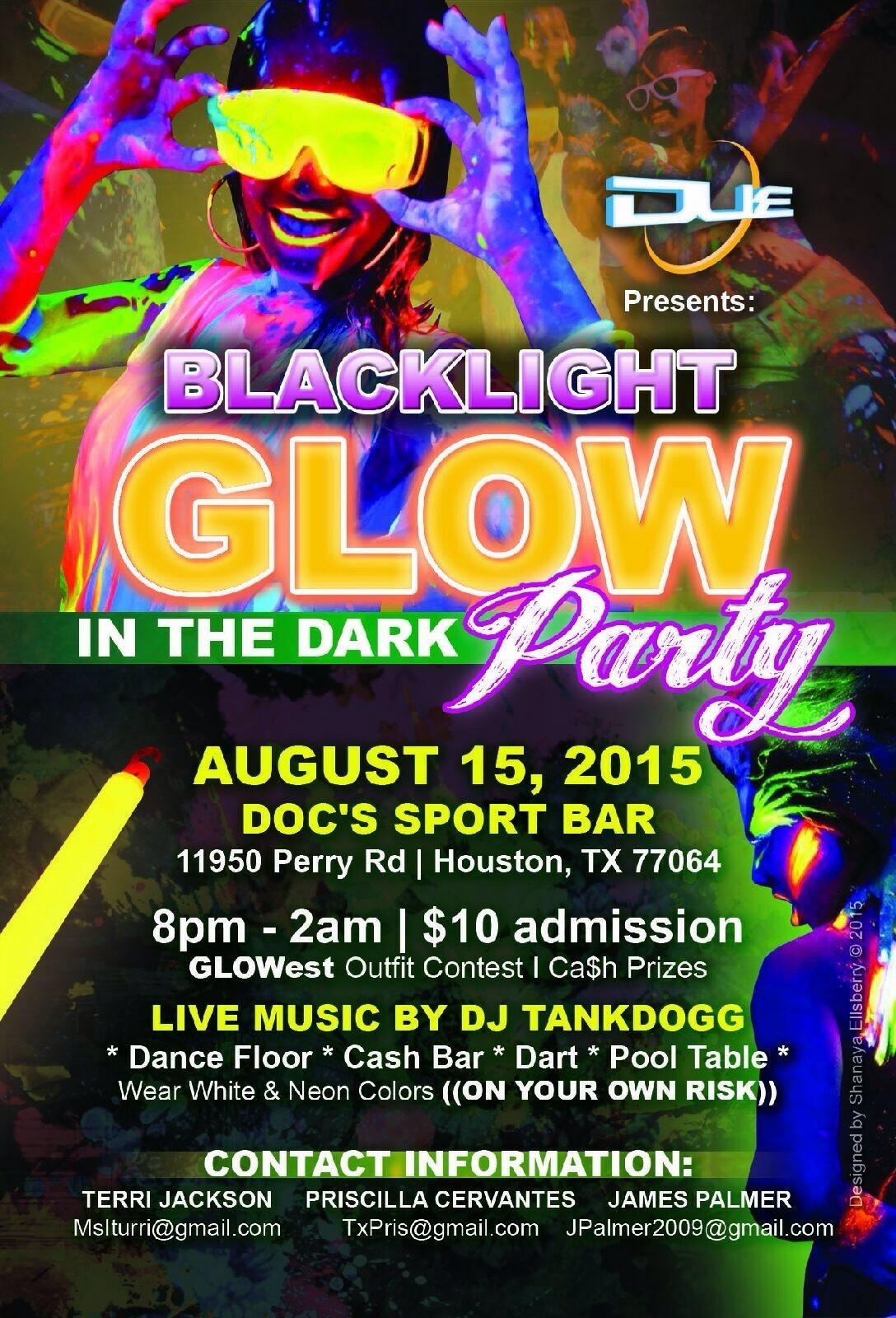 Blacklight GLOW In The Dark Party