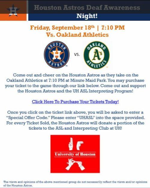 Houston Astros vs Oakland Athletics Flyer 9/18/15
