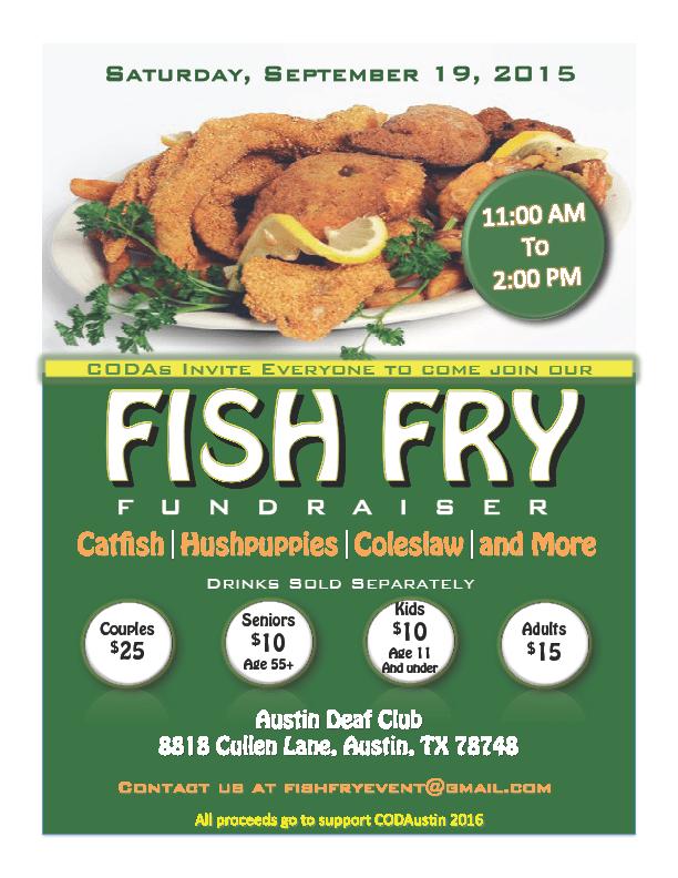 fish fry austin deaf club flyer 2015 deaf network of texas