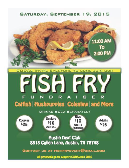 fish fry austin deaf club flyer 2015
