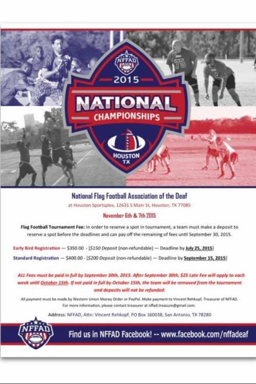 NFFAD national championship 2015 flyer