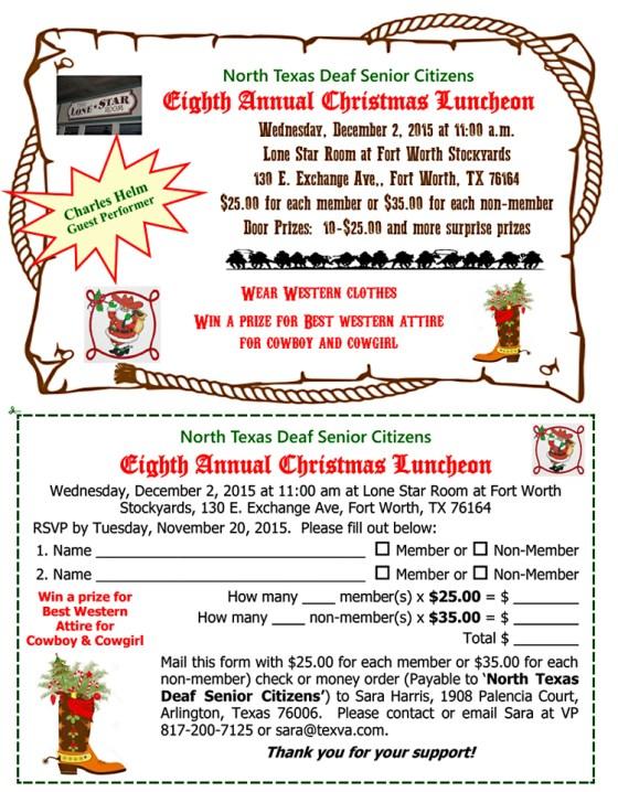 North Texas Christmas luncheon 2015