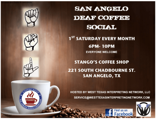 san angelo deaf coffee flyer